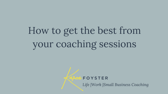 Getting the best out of coaching sessions