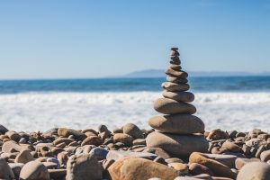 Balance - pile of stones on a beach